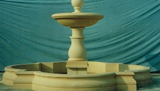 Single Tier Fountain With Ball Finial