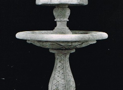 Two Tier Fluer de Lys Fountain