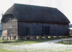 English Barn on Staddle Stones