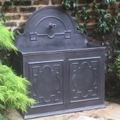 Lead Double Panel English Fountain w:one spout
